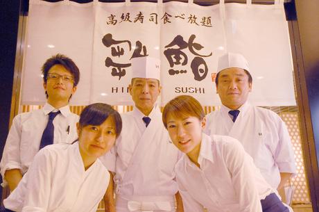 時給1300円・西銀座デパートでアルバイト【寿司職人】経験者募集・大人気食べ放題寿司のお店